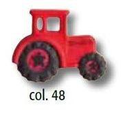 UK-Knopf mit Öse hellrot Traktor 23mm 46994