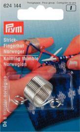 Strickfingerhut MET Norweger silberfarbig 624144