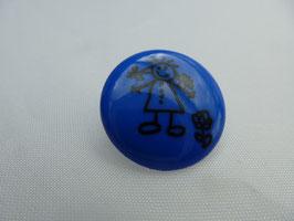 Kinderknopf mit Öse, Dill 221475, blau Mädchen 18mm