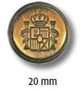 UK-Metallknopf mit Öse 20mm 41263