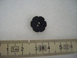 Knopf 2 Loch Blüte schwarz 15mm Kschw 37
