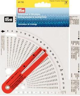 Strickrechner Kst. mit Zählrahmen + Nadelmaß 611735