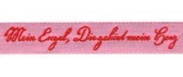 Schmuckwebband Mein Engel rosa-rot 1 cm breit Art.Nr.: 35049-02