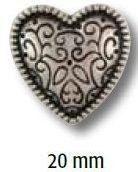 UK-Trachtenknöpfe mit Öse Metall Herz 20mm 28502