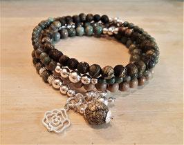 AMARI - Perlenarmband - Sterling Silber