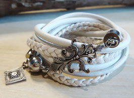 ✽BLOSSOM✽  WICKELARMBAND - LEDER - MESSING