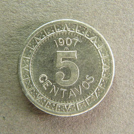 MEXIQUE - 5 Centavos 1907