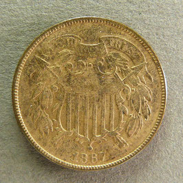 USA - 2 cents 1867