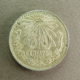 MEXIQUE - 50 Centavos 1907