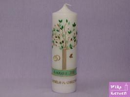 Hochzeitskerze Lebensbaum Baum 1