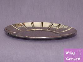 Kerzenteller Silber für Elipse 13cm Kerze WKKT41