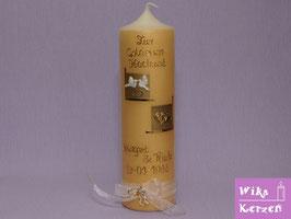 Hochzeitskerze Goldhochzeit  (50J. GOLD)