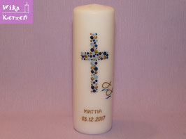 Taufkerze Kreuz Kreise 17