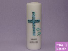 Taufkerze Kreuz Kreise 27