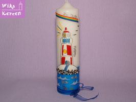 Taufkerze Junge Mädchen Leuchtturm 2