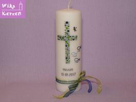 Taufkerze Kreuz Kreise 20