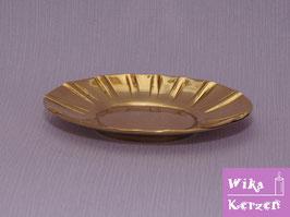 Kerzenteller Gold für Elipse 6,5 cm Kerze WKKT38