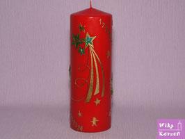 Adventskalenderkerze 1-24 Weihnachtskerzen Gold