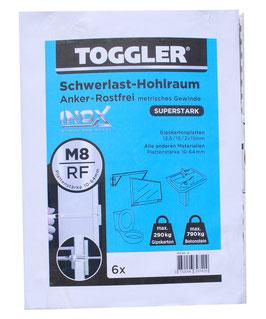 Hohlraumanker M8-RF-6 »INOX STAINLESS STEEL
