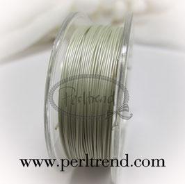 Schmuckdraht pearl silberfarben 0.50mm Spule mit 10 Meter