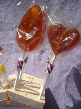 Sucette au miel de montagne et citron - environ 20g