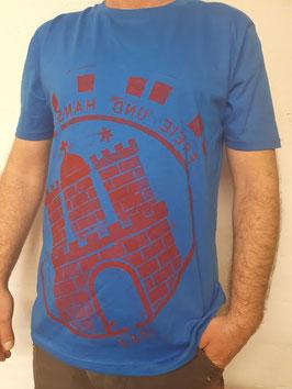 Herren T-Shirt blau/rot