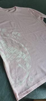Herren T-Shirt Rosa / Weiß