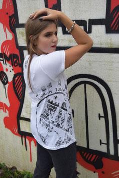 Damen T-Shirt weiß/schwarz
