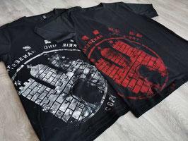 Herren T-Shirt Schwarz/weiß und Schwarz/rot