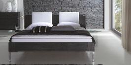 Eichen Bett schwarz