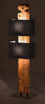 Lampe aus antikem Eichenbalken