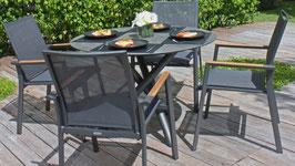 Runder Tisch mit HPL Platte