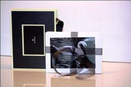 Série en noir & blanc emballage de 18 cartes de souhaits sans texte avec boîte cadeau assortie