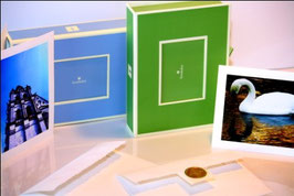 Emballage double 2 boîtes avec 12 cartes de souhaits par boîte