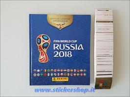 WC Road to Russia 2018 album vuoto set completo figurine Panini