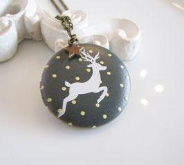 Medaillon ♥ Weihnachten Hirsch ♥
