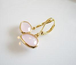 Ohrringe rosa gold edel