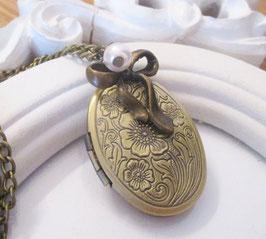Vintage Medaillon ♥ médaillon de fleurs ♥