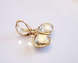 Ohrringe grau gold  ♥ Kristall ♥