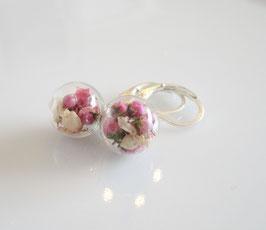 Ohrringe silber ♥ rosa Blüten ♥