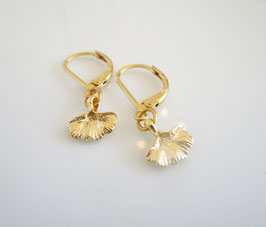 Gingko Ohrringe gold