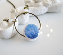 Halskette  ♥ Gräser, himmelblau ♥
