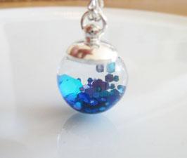 Kette mit Glitzer blau Meerjungfrau