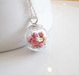 Kette ♥ rosa Blüten ♥