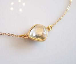 Kette grau gold ♥ Kristall ♥