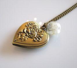 Medaillon ♥ Herz und Pusteblume ♥