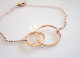 Armband  rosengold ♥ Doppelkreis ♥