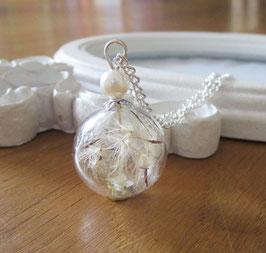 Kette ♥ Pusteblume mit Perle ♥
