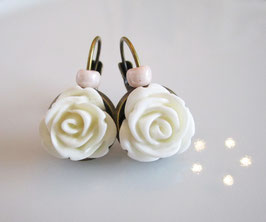 Ohrringe rosa, weiß ♥ Romantik ♥