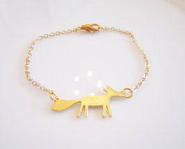 Armband  gold ♥ Fuchs ♥